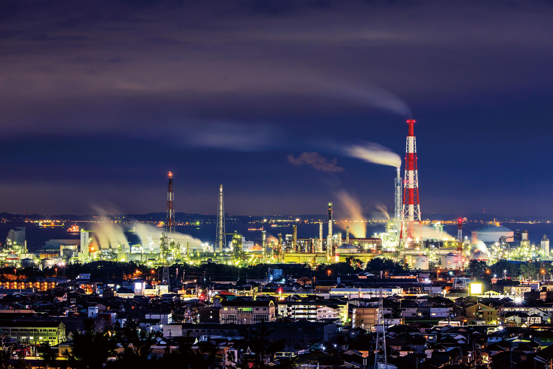 四日市コンビナートの写真 四日市の街並みと工場夜景 高画質な三重の風景写真は三重フォトギャラリー
